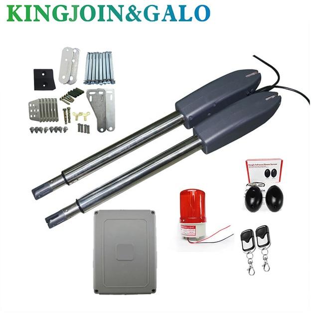 400kg swing door gate linear actuator motors Kit 2 transmitter with  photocell alarm lamp
