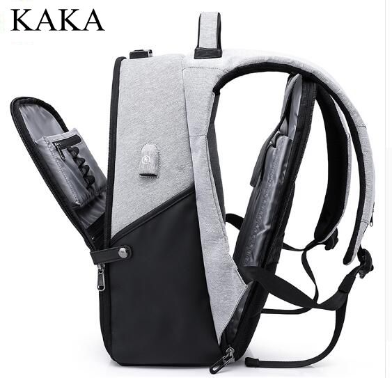 KAKA USB Charging Laptop Backpack Men Travel Backpack School bag Rucksacks Men Travel Backpack Shoulder Bags rucksack Mochilas meiyashidun men backpack casual chest bag multifunctional molle military backpack shoulder bags travel bagpack school rucksack