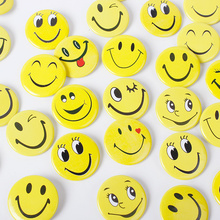 20pcs Kawaii cartoon smiley face medals badges pin for clothing bag jeans trouser birthday christmas gift diy craft