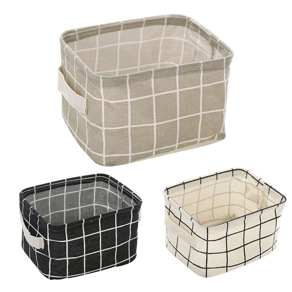 Cute Foldable Storage Closet Toy Box Container Organizer Fabric Basket Office Desk Storage Jewelry Cosmetic Makeup Box