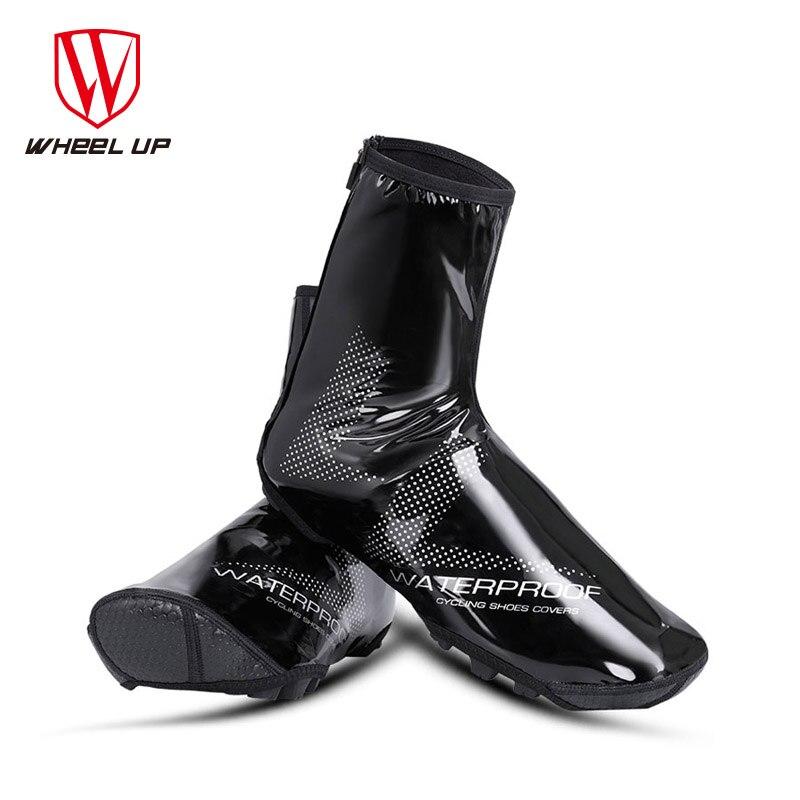 Couvre-chaussures de cyclisme réfléchissant imperméable à leau couvre-chaussures de vélo coupe-vent thermique