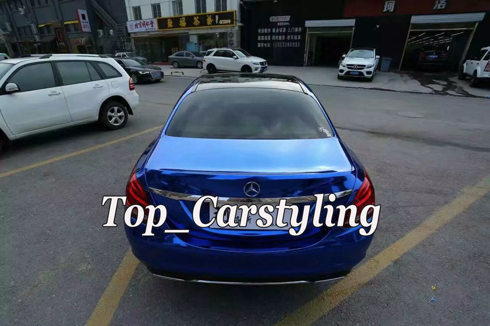 chrome blue mirror stm hexis car wrapping film high stretchable flexible (4)