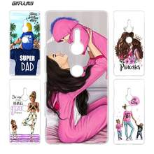 Case for Sony Xperia XA1 Plus XA2 XZ2 COMPACT XZ1 M4 Aqua XA XA1 XZ E5 Z1 Z2 Hard PC Clear Cover Brown Hair Baby Mom Girl Queen(China)
