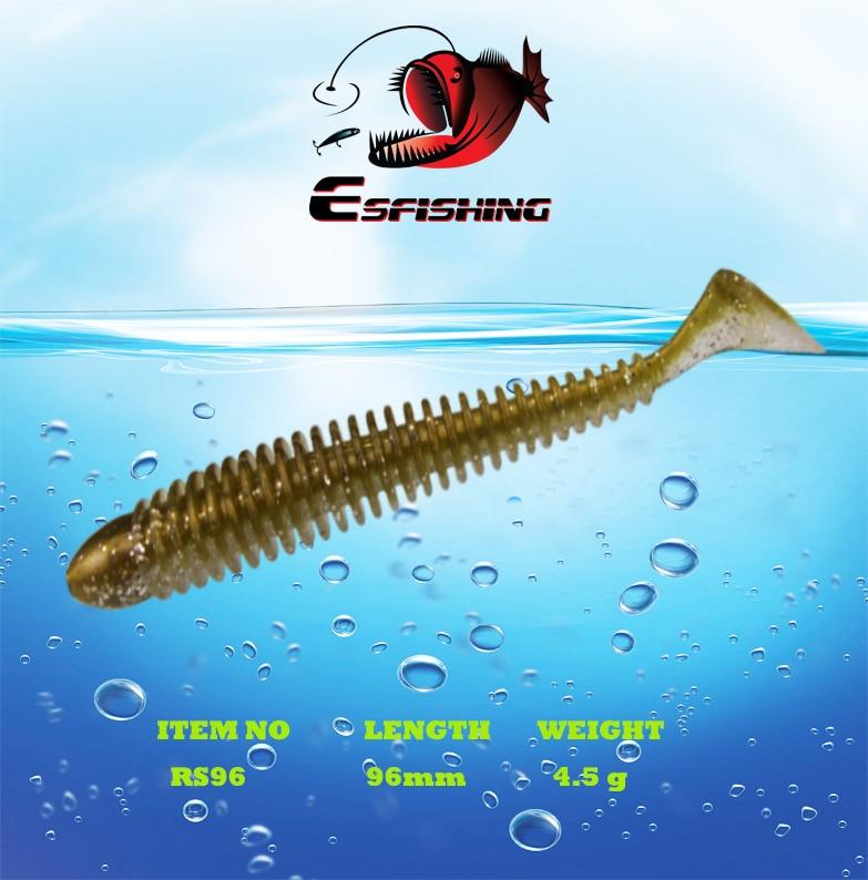 Esfishing Lures New 2018 Fishing Lure Soft Baits Ring Shad 6pcs 9.6cm/4.5g Leurre souple Carp Fishing Accessories