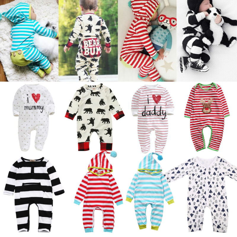 Rompers Pajamas Newborn Sleepsuit Jumpsuits Baby Long-Sleeve Infant Kids Girl