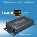 CAT5e CAT6 Over IP HDMI Extender splitter Transmission TX RX HDbitT HDMI Extender 150M 1080P HDMI Extender Receiver Transmitter