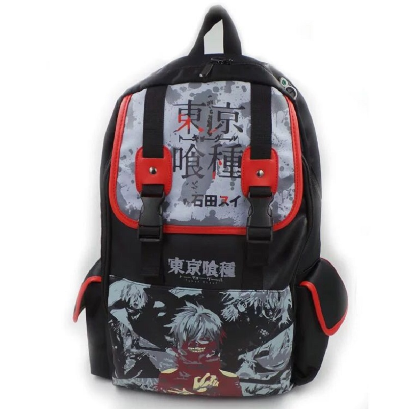 Anime Cartoon Tokyo Ghoul backpack Travel bag pu leather oxford bags Durable Teenager School Tokyo Ghoul Cosplay BackpackAnime Cartoon Tokyo Ghoul backpack Travel bag pu leather oxford bags Durable Teenager School Tokyo Ghoul Cosplay Backpack