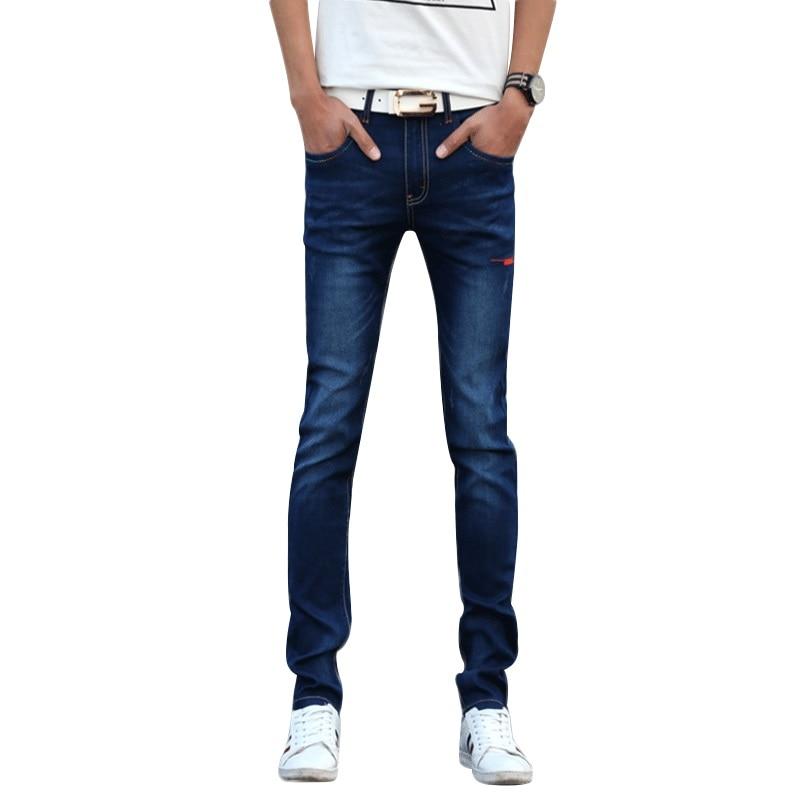 Korean Fashion Men Jeans 2017 Middle Waist Pencil Pants Men Trousers Spring Summer Denim Jeans Men Slim Trousers Men ADK1304