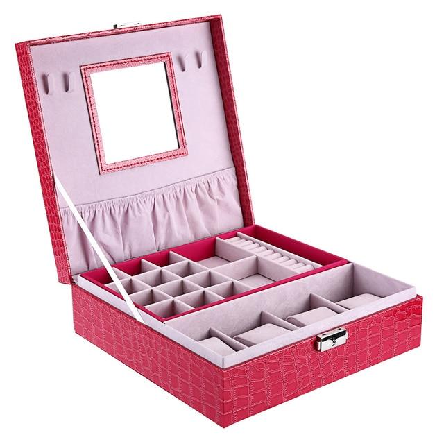 Multifunctional Women Jewelry Storage Organizer Drawers Box Travel