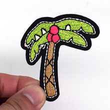 2018 New Special Offer 2pcs For Coconut Tree Patches For Clothing Iron On For Clothes Badges Iron-on Parches Applique For Jeans(China)
