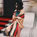 Chal de cachemira de visón de punto bufanda de lana de alta calidad de la manera al por mayor 2017 otoño invierno mantener caliente mujeres pashmina WJ108