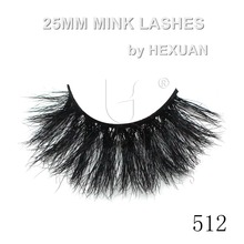 512 HEXUAN LASHES Natural Long Eye Lashes 5D Mink Fur 25mm False Eyelashes Thick Makeup