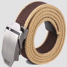 Army Tactical Belt Automatic Buckle Canvas Belt Male Mens Outdoor Waist Men High Quality Strap