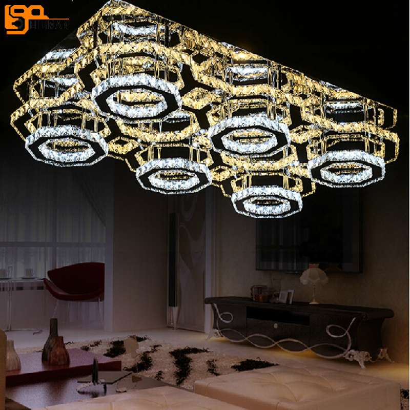 New Modern Design LED Chandelier Ceiling Fixtures Lampen Kristal For Living Room