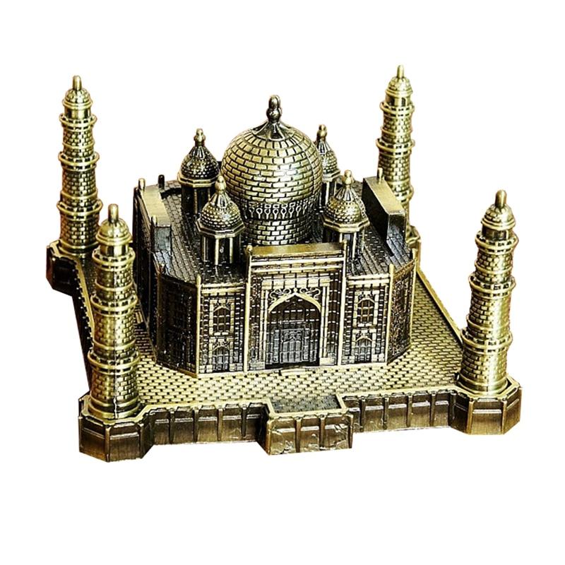India Taj Mahal Decoration Metal Crafts World Landmark Building Architecture Iron Model Art Home Taj Mahal Suveniour Gift Crafts