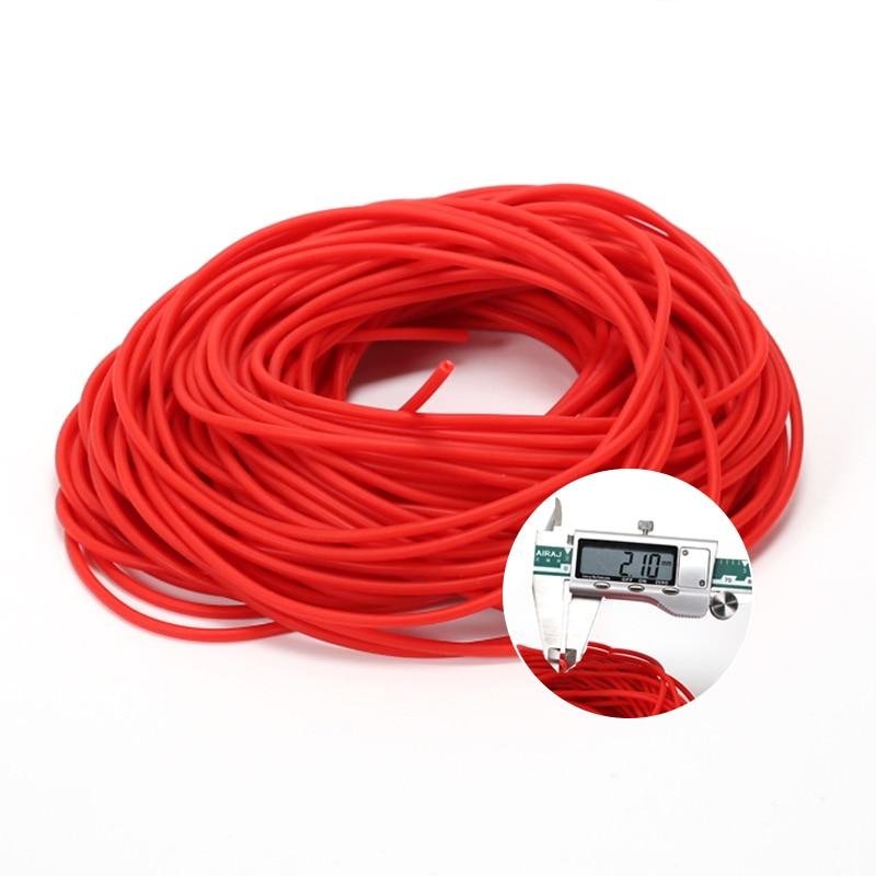 Victorsense 5/10/20/100m Fishing Ropes 2.1mm 0.7mm 2.3 2.5 2.9mm Latex Tube Models Hollow Latex Elastic Lines Fishing Tackle