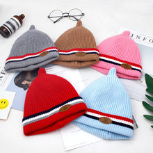 MUQGEW Newborn Infant baby winter hat Boy Girl Striped Hat Winter Warm Knit Crochet Beanie Infant Caps dropshipping ship from US(China)