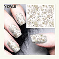 YZWLE 1 Hoja de Etiquetas de DIY Uñas de Arte de Transferencia de Agua de Impresión Pegatinas Accesorios Para Manicura Salon (YZW-163)