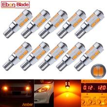 10 pièces T10 W5W LED Ampoules 194 168 Canbus Erreur Livraison Auto Intérieur Lumière Clignotants Lampe lampen Ambre Jaune car Styling 12 V DC