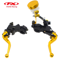 FX CNC 7 8 22MM 8 Color Hydraulic Brake Cable Clutch Set For 125 600cc Moto