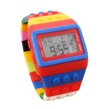 Watches Digital Women LED Sport Rainbow-Band Water-Resistant Casual