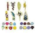 BOHS Kanto Indigo League Badge Pins Costume Collectibles, 8pcs/set