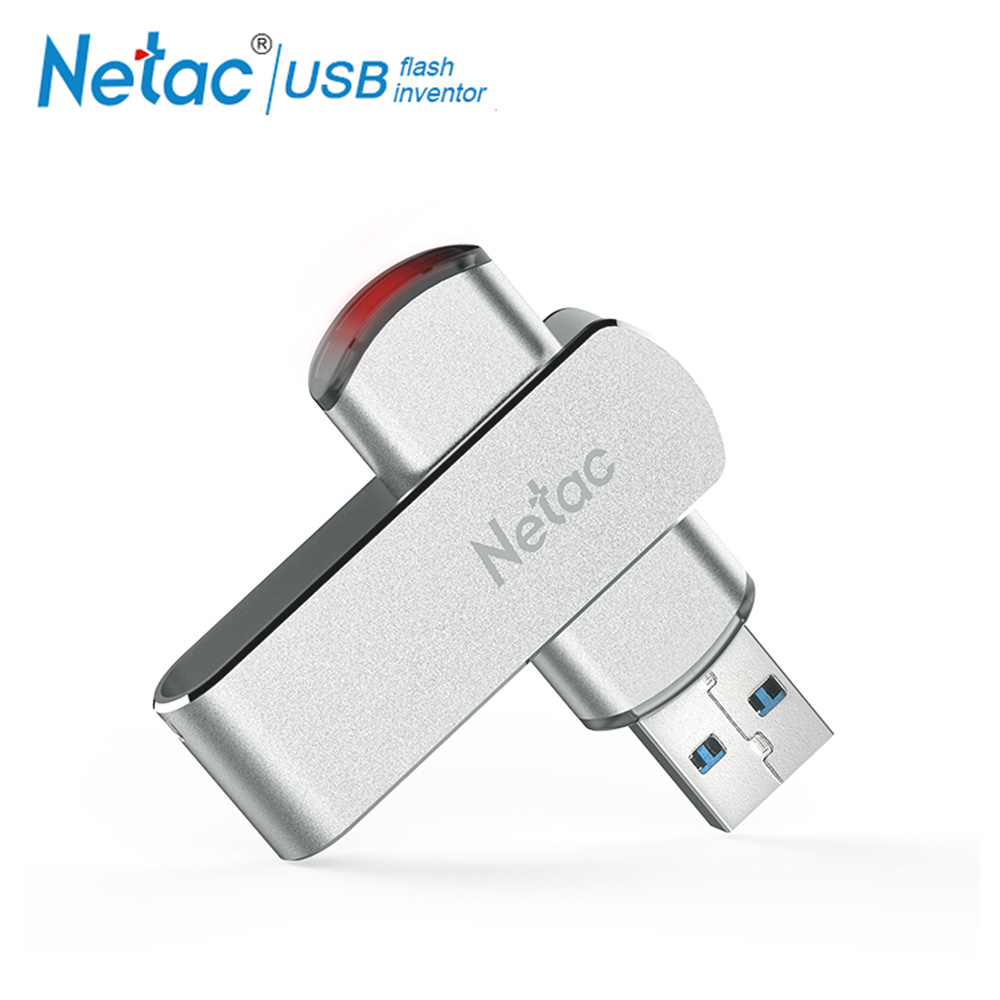 Netac rotary USB Flash Drive 16G Pendrive 32GB 64GB swivel Pen Drive 128GB USB 30 Memory Stick Drive Flash Metal Storage Device