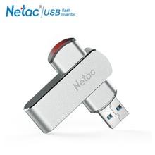 Netac rotary USB Flash Drive 16G Pendrive 32GB 64GB swivel Pen Drive 128GB USB 3.0 Memory Stick Drive Flash Metal Storage Device