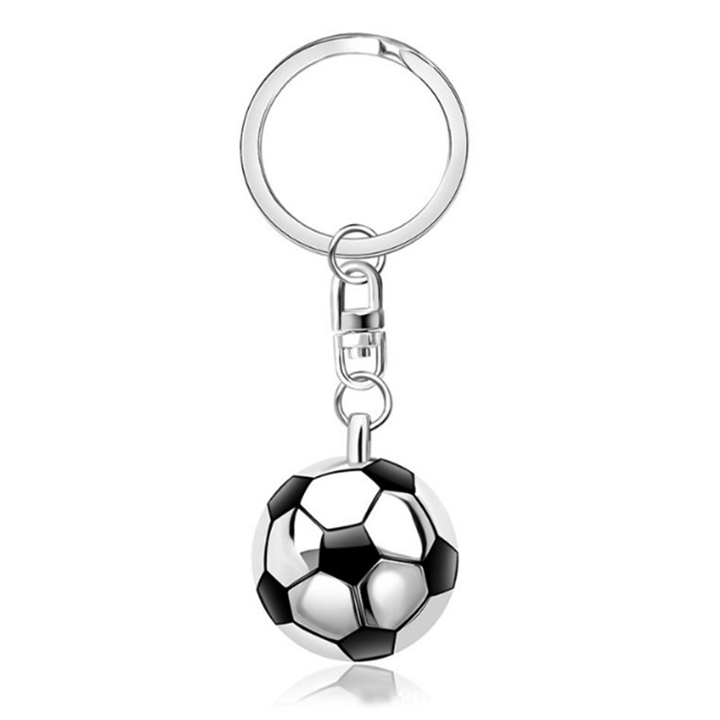 Личность Футбол Брелоки ювелирные спорт ювелирные изделия 3D Футбол и зеркало подвеска брелок Мода сувенирная продукция