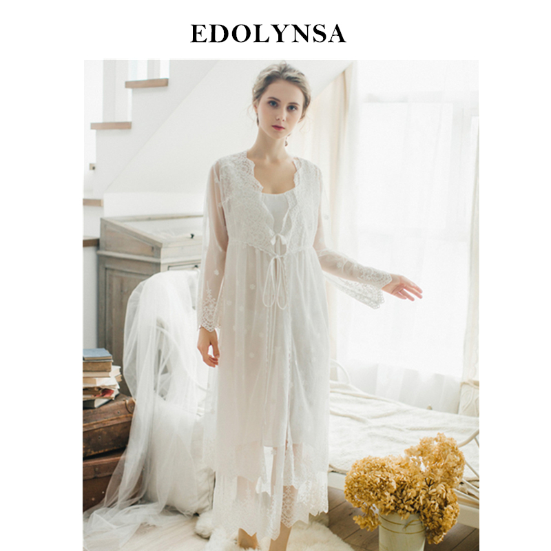 New Arrivals 2019 Sexy Nightgown Robes Set Bathrobe Sets Lace Nightdress Set Bridesmaid Robes Set Peignoir