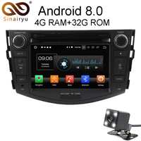 Sinairyu Android 8.0 8 Core 4G RAM Car DVD GPS For Toyota RAV4 RAV 4 2006 2007 2008 2009 2012 WIFI Autoradio Multimedia Stereo