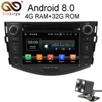 Sinairyu Android 8,0 8 Core 4 г Оперативная память автомобильный DVD gps для Toyota RAV4 RAV 4 2006 2007 2008 2009 2012 WI FI Авторадио Мультимедиа Стерео