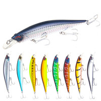 8Pcs/lot 19.2g 135mm 3D Eyes Floating Fishing Bait Lure Lifelike Artificial Striped Minnow Wobblers Fishing Bait Lure With Hooks