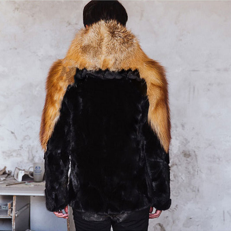 2018Mens High-Imitation Fur Coat Mens Fox Fur Mink Fur One-piece Jacket Winter Mane Hooded Coat Size S M L XL XXL XXXL 4XL 5XL
