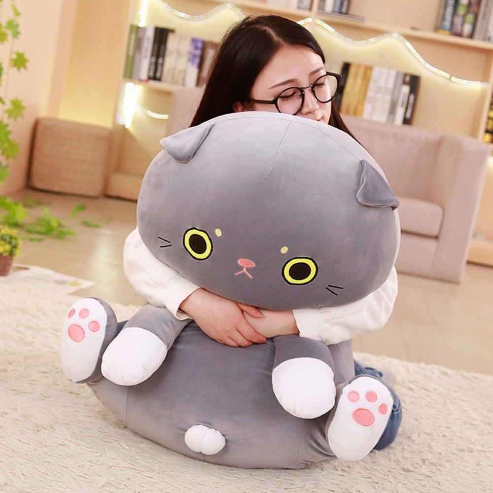 large 75cm cartoon cat plush toy down cotton soft cat doll hugging pillow birthday gift s2724 huge 120cm cute cartoon dinosaur plush toy down cotton soft doll hugging pillow christmas gift b1490