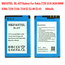 HKFASTEL New BL-4CT BL4CT Li-ion Mobile Phone Battery For Nokia 2720F 2720A 2720 Fold 5310 XpressMusic 5630 5630 7210 , 860mAh аккумулятор для телефона craftmann bl 4ct для nokia 5310 xpressmusic 2720 fold 5310 5630 xpressmusic 6600 fold 6700 slide 7210 classic 7210 supernova 7230 7310 classic 7310 supernova x3 x3 00