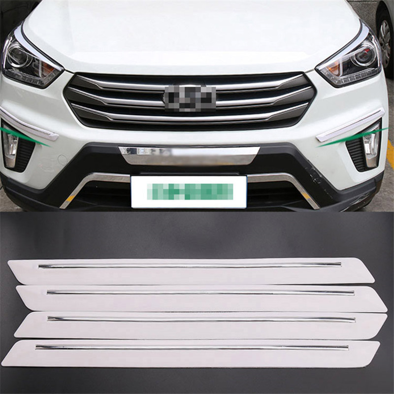 4pcs 425mm Universal Fit Black Bumper Protector Corner Guard Scratch Sticker in Styling Mouldings from Automobiles Motorcycles