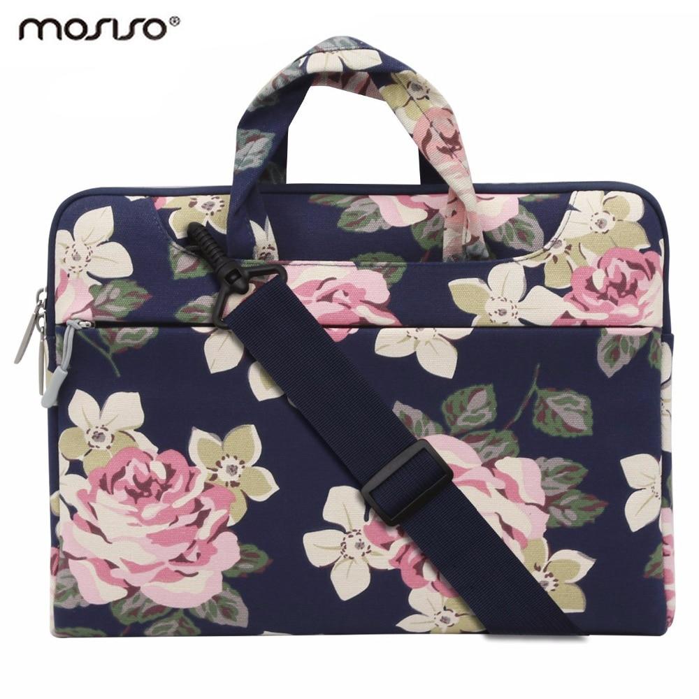 Mosiso Loptop 11 13.3 14 15.6 inch Canvas Zipper Shoulder Bag for Macbook Air13 Pro 13 15/