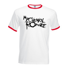 My Chemical Romance hit collar tops 2017 Fitness tshirt summer men short sleeve t-shirt Cotton contrast brand clothing