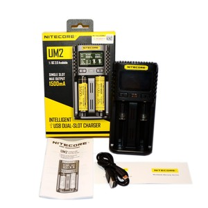 Image 5 - NITECORE UM4 UM2 C4 VC4 LCD Smart Battery Charger for Li ion/IMR/INR/ICR/LiFePO4 18650 14500 26650 AA 3.7 1.2V 1.5V Batteries D4