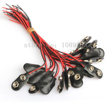 100PCS 9V Battery Snap Connector Cable Plug Volt Clip Lead Wire for Arduino DIY