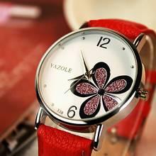 Leather Strap Women Watches Bracelet Lady Clock Lucky five-leaf flower Quartz Watch Luxury High Quality Casual Dress Watch Gift недорого