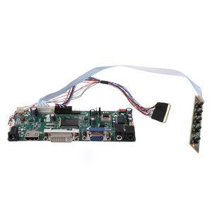 "Image 3 - Placa de controlador lcd dvi vga módulo de áudio pc driver kit diy 15.6 ""display b156xw02 1366x768 1ch 6/8 bit painel de 40 pinos"