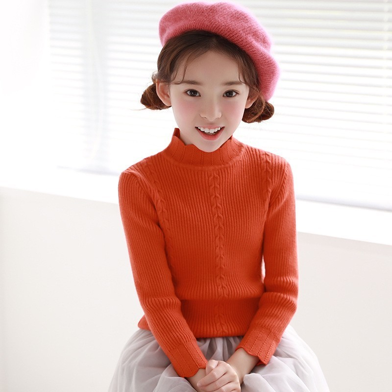 Pullover Big Kids Sweaters 2018 Spring Toddler Baby Cotton Autumn Winter Girls Knit Sweater Long Sleeve Tops Children Clothing hot sale kids sweater boys sweater children autumn winter solid cotton long sleeve girls pullover o neck 50w0020
