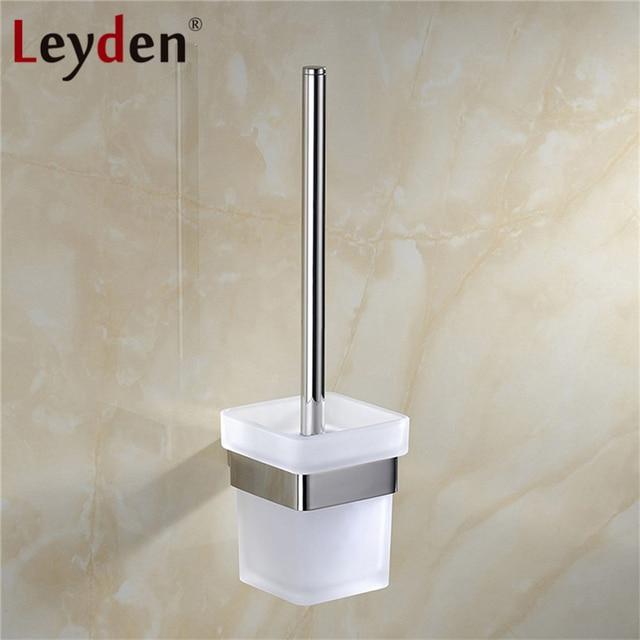 € 32.32 45% de réduction|Leyden porte brosse WC inox Chrome WC carré porte  brosse WC mural accessoires salle de bain dans Toilettes Supports de ...