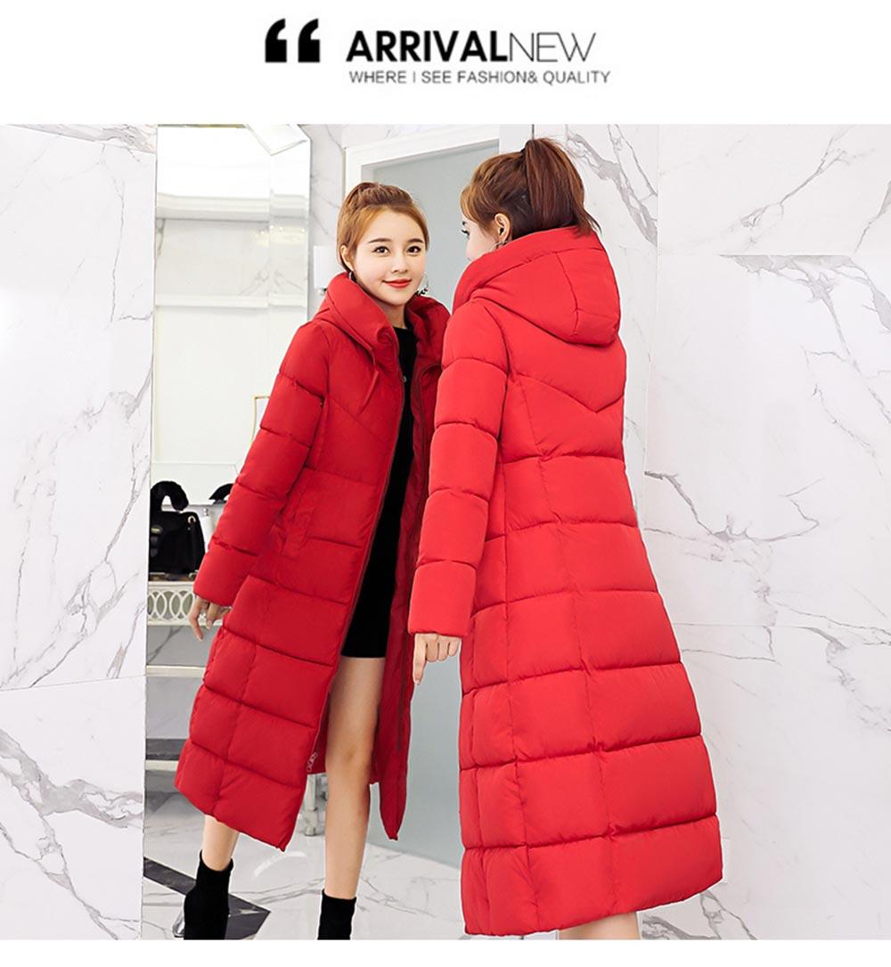 inverno longo parkas engrossar para baixo algodão outwear