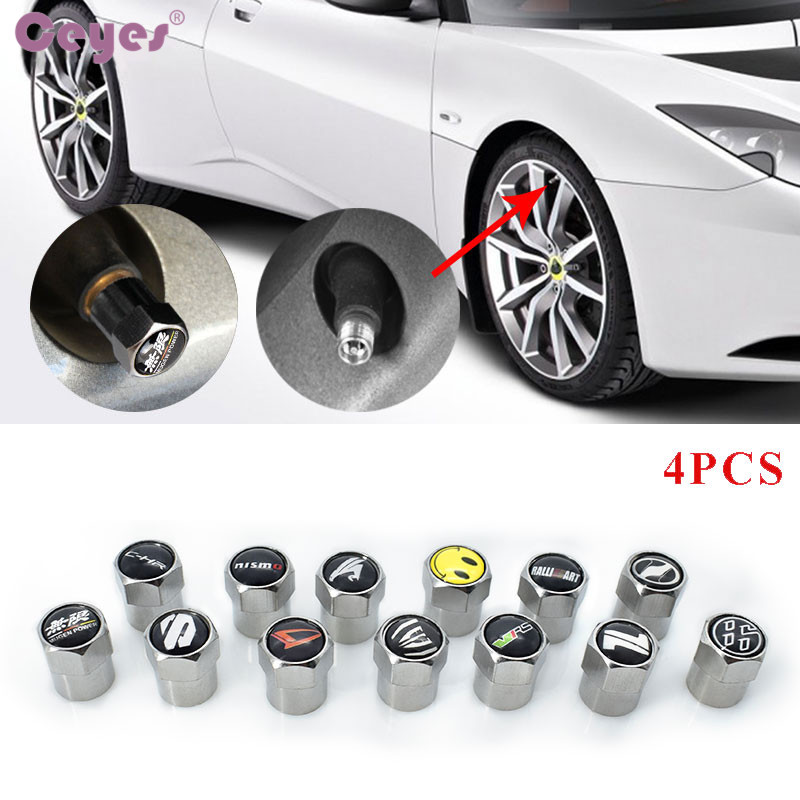 цена на Ceyes Car Styling Auto Tire Valve Caps Case For Toyota Mazda Seat For Honda Mitsubishi Skoda Daihatsu Nissan Nismo Car-Styling