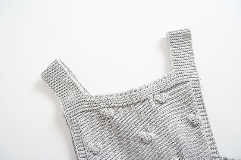 INS Summer Knitted Rompers Newborn In Baby Girls\' Rompers&Jumpsuit Vest Top Tee Kids Boys Gray Rompers 0-3 Years Girl Clothing (10)