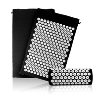 Acupressure Mat And Pillow Set For Natural Relief Of Stress Pain Tension Body Head Back Foot