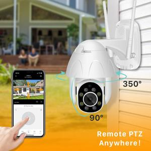 Image 3 - Cloud 1080P PTZ WIFI IP Camera Auto Tracking 2MP Waterproof CCTV Security Camera 4X Digital Zoom Speed Dome Wireless IP Camera